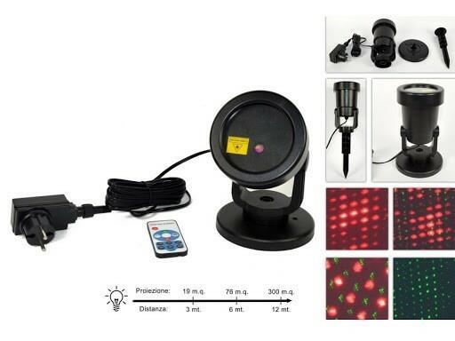 Proiettore Laser Crepuscolare con Telecomando
