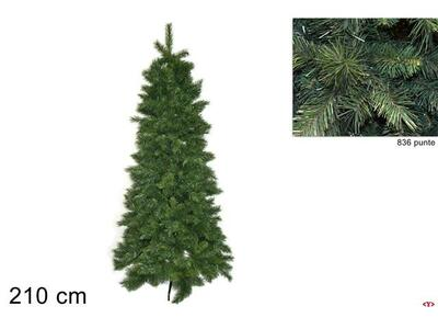 Albero di Natale Slim H210 cm 836 Punte