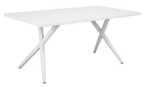 Tavolo da giardino TAVOLO PEGLI misura 160 x 90 cm in alluminio bianco RTA 41
