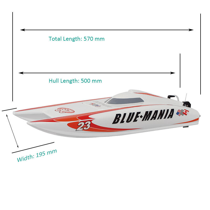 Catamarano da velocità BLUE-MANIA R/C con Scafo in ABS di Joysway - Offerta di Mondo Nautica 24