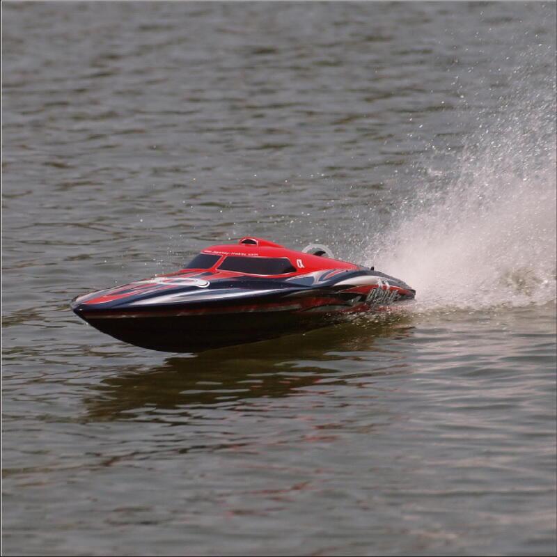 Motoscafo ALPHA red R/C con Scafo in ABS di Joysway - Offerta di Mondo Nautica 24