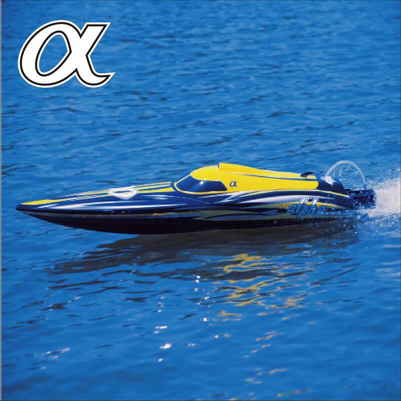 Motoscafo ALPHA yellow R/C con Scafo in ABS di Joysway - Offerta di Mondo Nautica 24