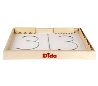 """Lavagna di Sabbia """"Scrivi e Disegna"""" in Legno Naturale per Bambini di Dida"""