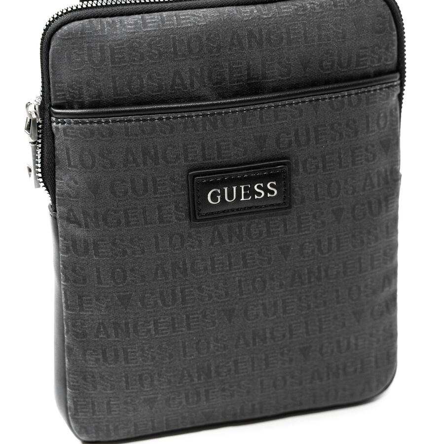 TRACOLLA GUESS  CON LOGO ALL OVER BLACK