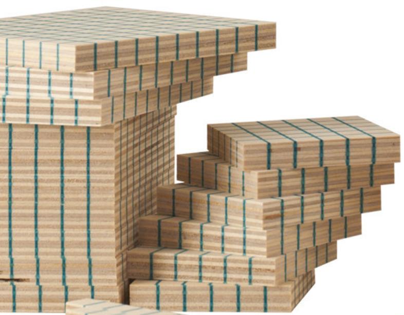 Multibase Dienes 447 pezzi in Legno Naturale per Bambini di Dida