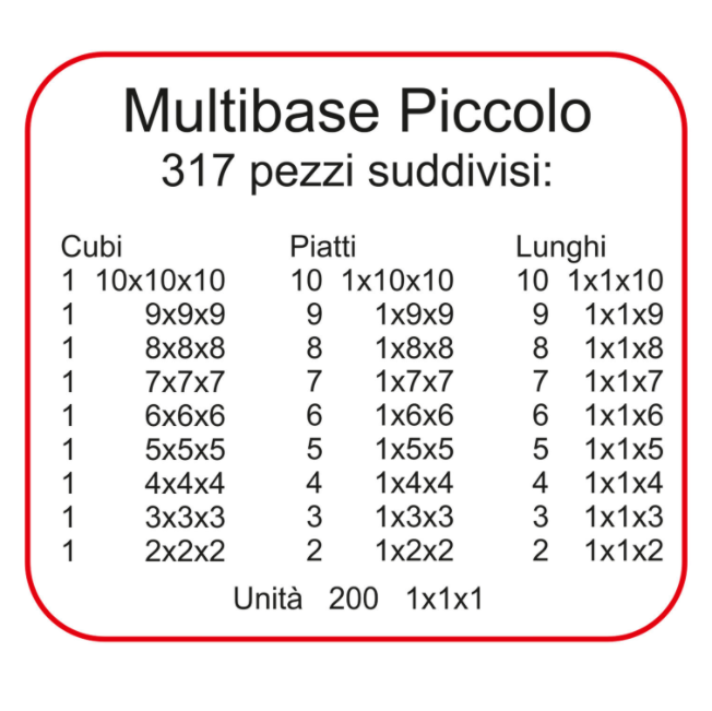 Multibase Piccolo 317 pezzi in Legno Naturale per Bambini di Dida