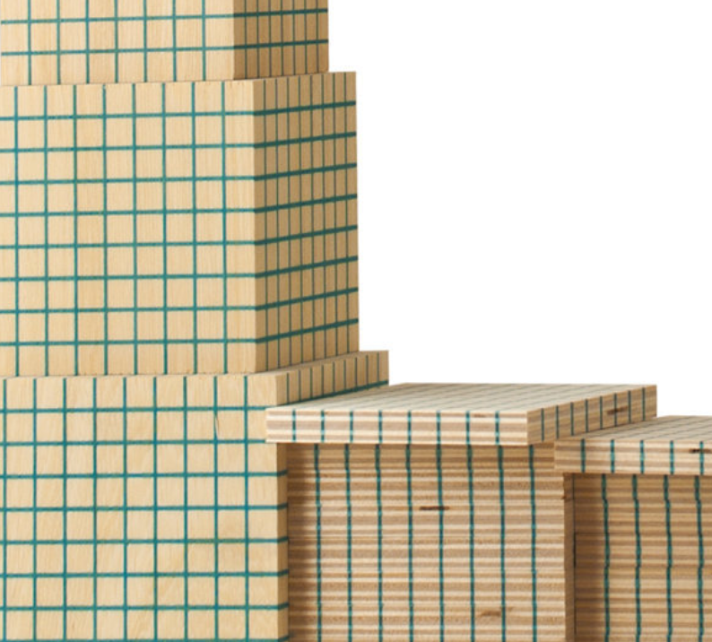 Calcolo Multibase Grande 543 pezzi in Legno Naturale per Bambini di Dida