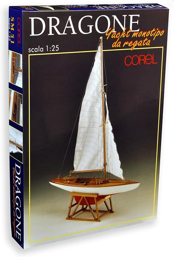 Scatola di Montaggio in Legno Yacht Monotipo DRAGONE di Corel - Offerta di Mondo Nautica 24