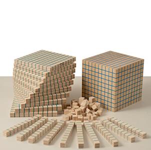 Multibase Base 10 da 121 pezzi in Legno Naturale per Bambini di Dida