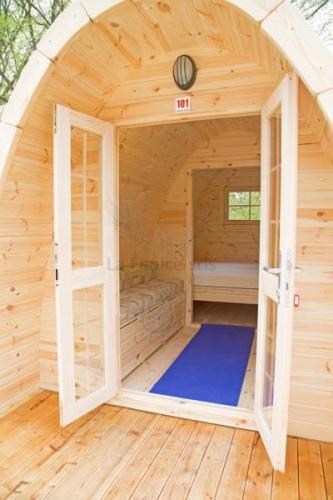 Glamping Pod  in legno di pino nordico Mod. Elin 2,40 x 4,80 - 46mm