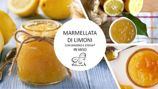 Marmellata di Limoni con Zenzero e Stevia