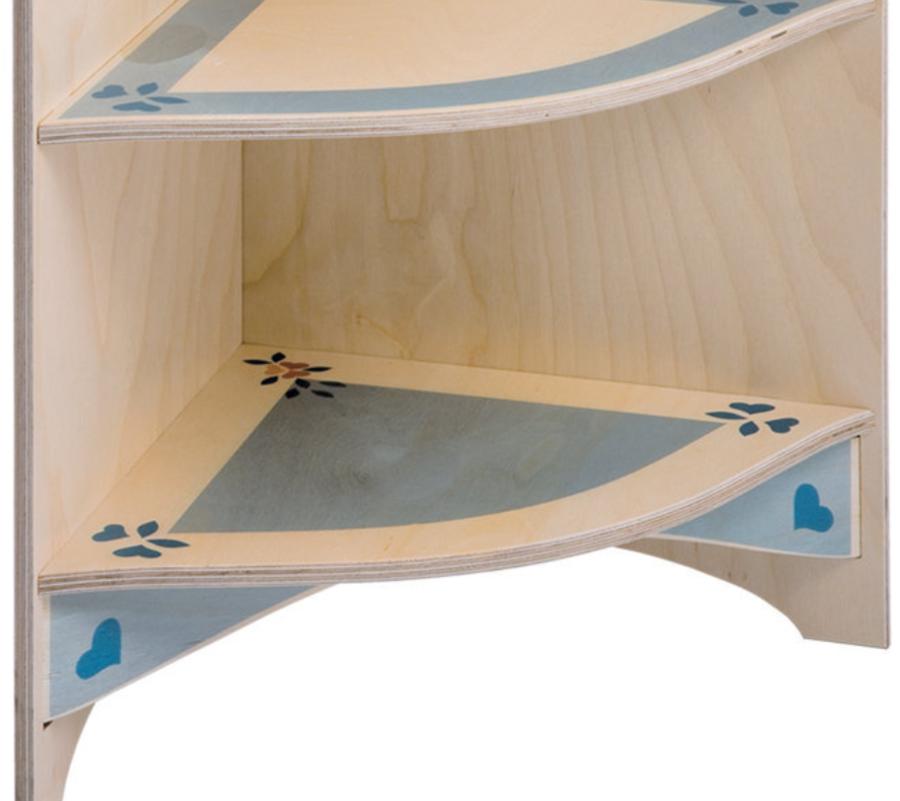 Angolo Terminale per Cucina Giocattolo in Legno di Betulla Finemente Decorato di Dida