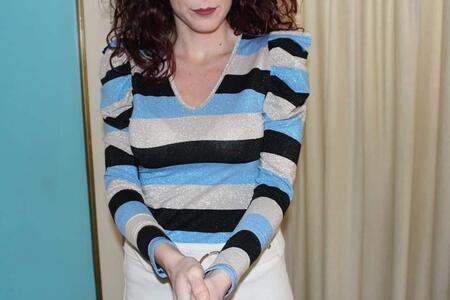 Blusa righe lurex
