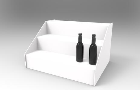 Espositore in plexiglas porta Bottiglie Liquori a Scaletta