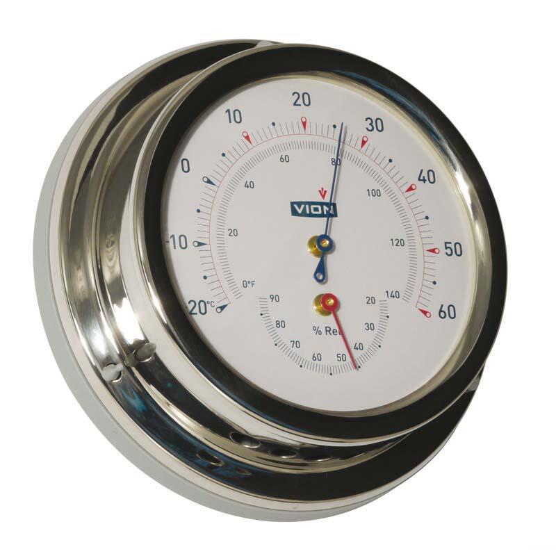 Termometro Igrometro Vion A 100 LD acciaio inox lucidato a specchio