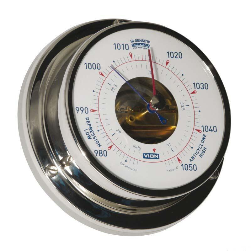 Barometro Vion A 80 MIC CHR acciaio inox lucidato a specchio