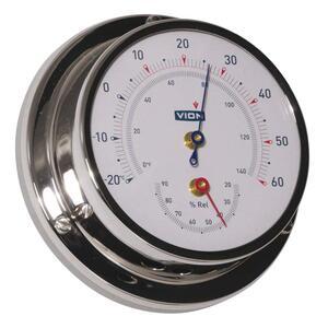 Termometro Igrometro Vion A 80 MIC CHR acciaio inox lucidato a specchio