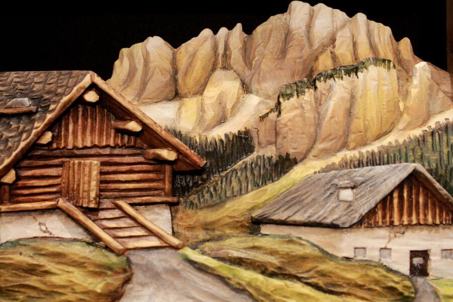 Rilievo paese di montagna