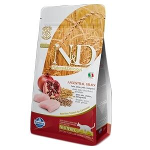 Farmina N&D Low Grain Pollo e Melograno Neutred 1,5 KG Gatti Sterilizzati