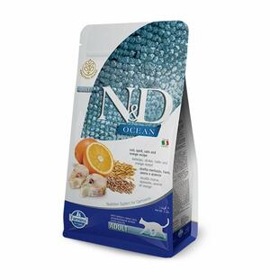 Farmina N&D Ocean Low Grain Adult Merluzzo Arancia 1.5 g Per Gatti Adulti