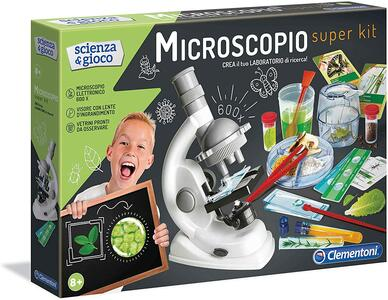 MICROSCOPIO SUPER KIT SCIENZA & GIOCO CLEMENTONI