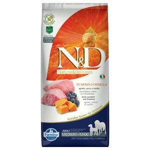 Farmina N&D Grain Free Pumpkin Adult Medium Maxi Agnello Zucca e Mirtillo 12Kg Cani