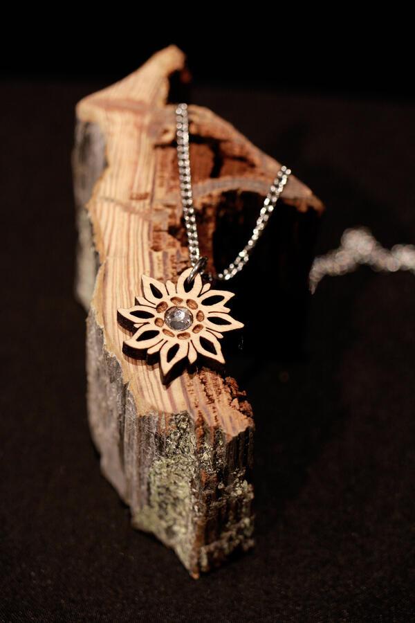 Ciondolo stella alpina mini