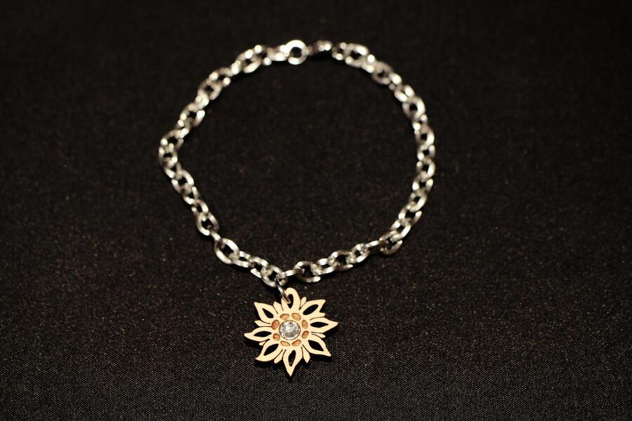 Bracciale stella alpina