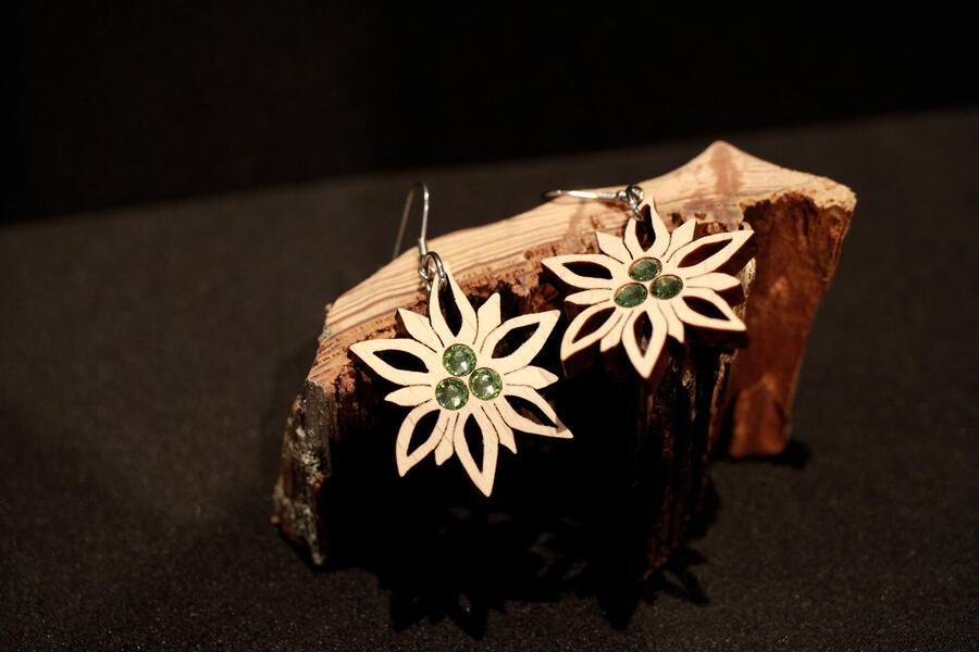 Orecchini stella alpina