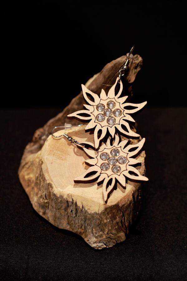 Orecchini stella alpina grande