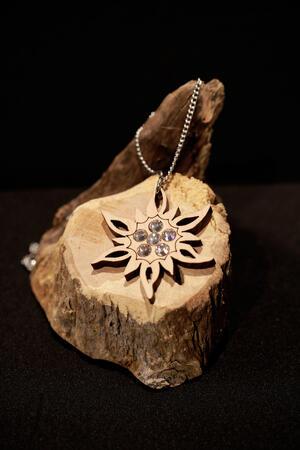 Ciondolo stella alpina grande