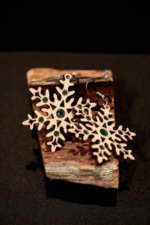Orecchini fiocco di neve grande
