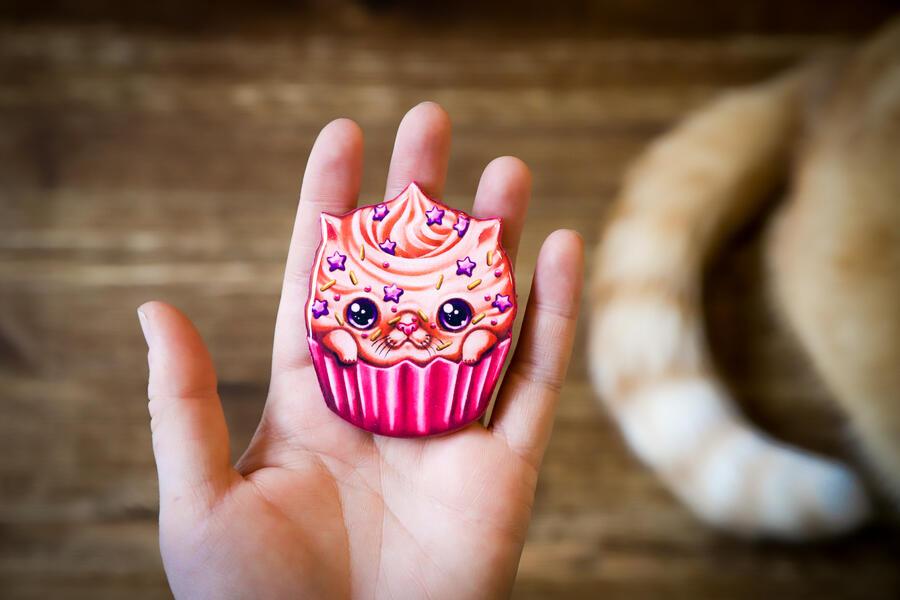 Spilla Catcake