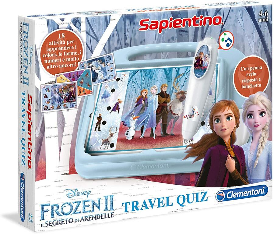 SAPIENTINO TRAVEL QUIZ FROZEN 2 CLEMENTONI
