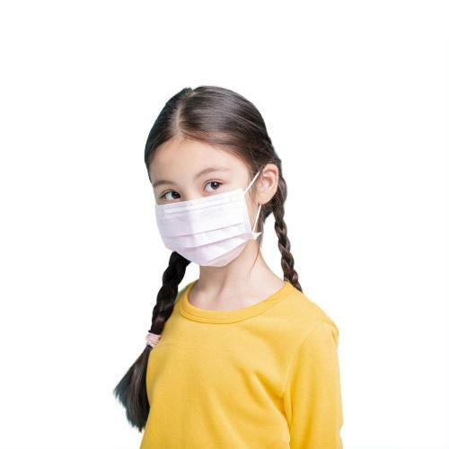 Mascherina monouso in TNT - 3 strati (Confermi CE) - Per Bambini - ROSA