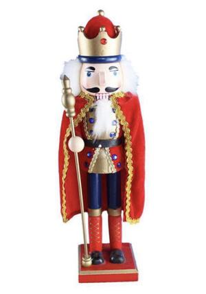SCHIACCIANOCI SOLDATINO Soldato BURATTINO di Legno 38 CM King Natale Decorazione