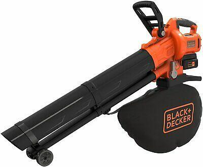 Black & Decker BCBLV3625L1 soffiatore di foglie cordless 270 km/h Nero, Arancione 36 V Ioni di Litio