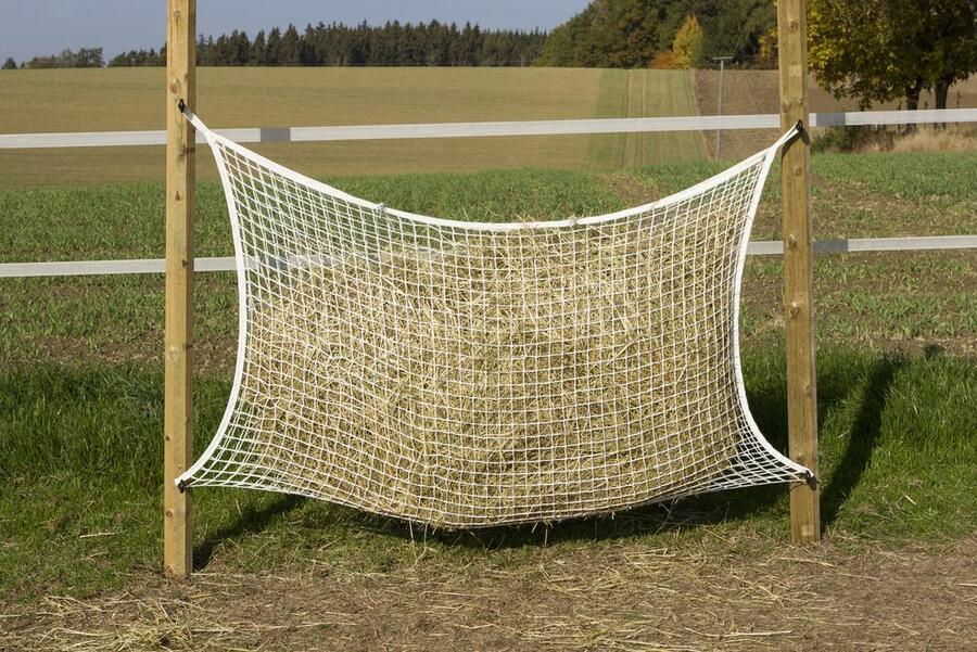 Rete per fieno per foraggiamento su 24 ore 160cmx100cm maglia 3x3