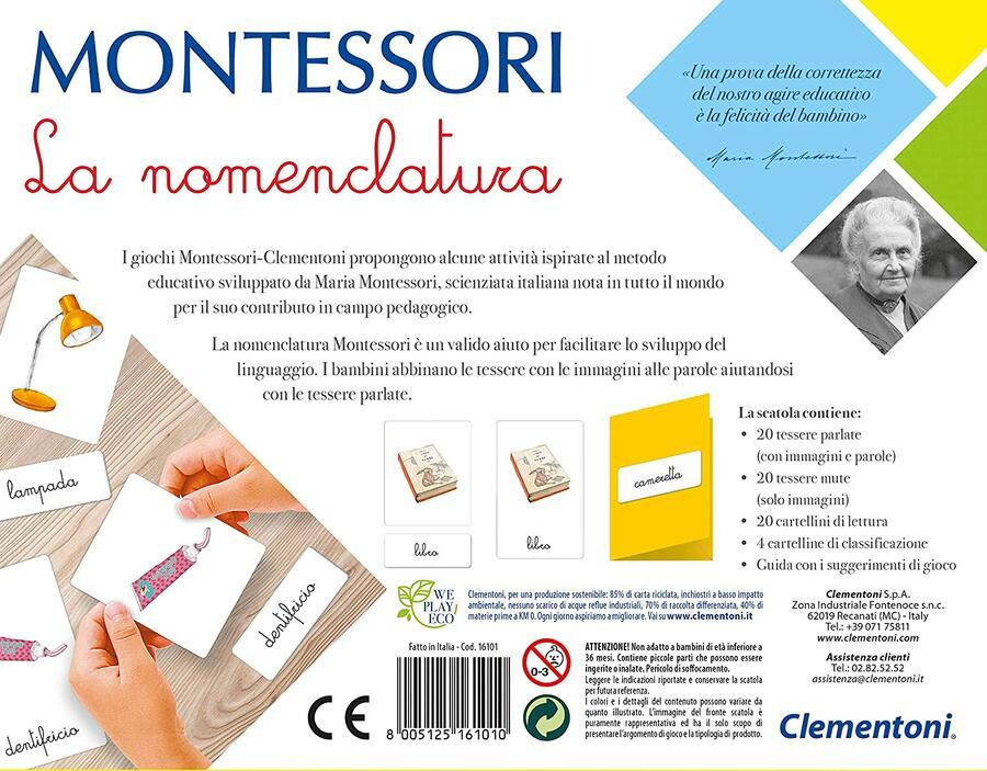 MONTESSORI LA NOMENCLATURA CLEMENTONI