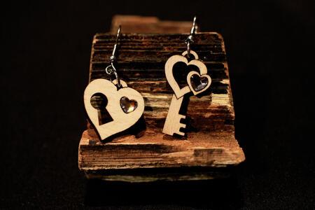 Orecchini chiave e cuore