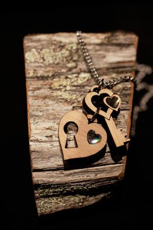 Ciondolo chiave e cuore