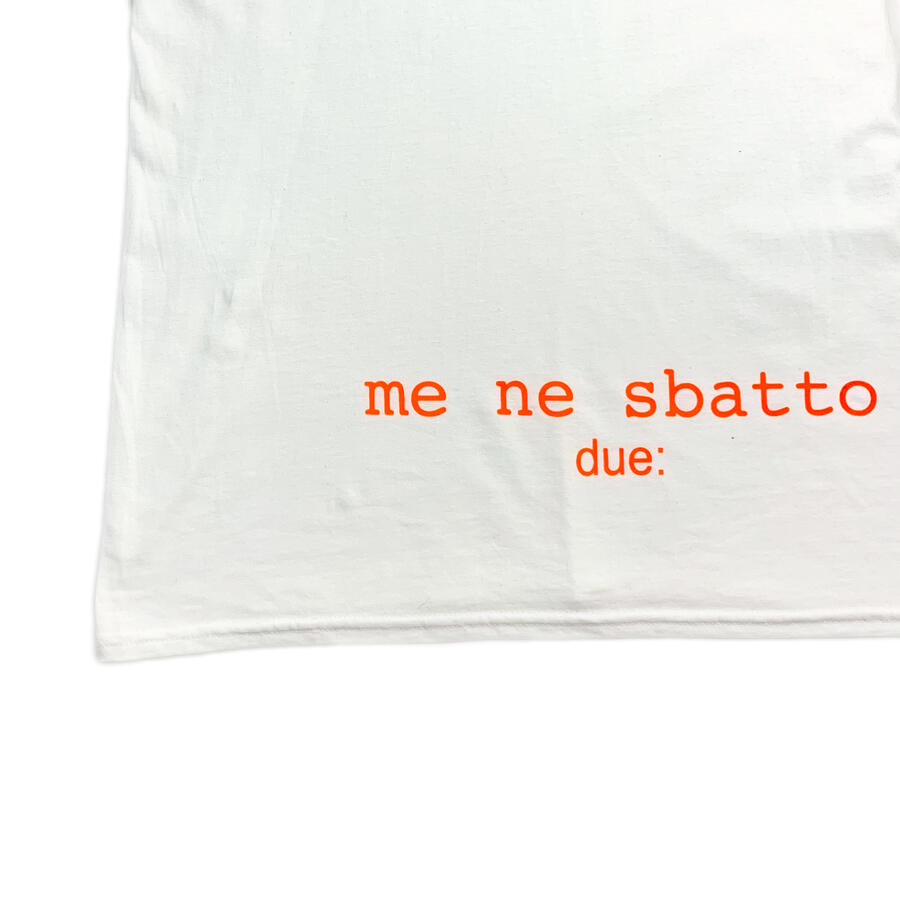 "T-shirt ""Me ne sbatto"" 180 gr - Due :"