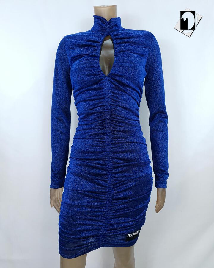 Versace Jeans Couture Jersey Lurex mini dress