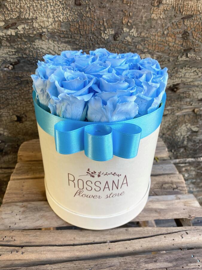 FLOWER BOX T12 Rossana Collection azzurro