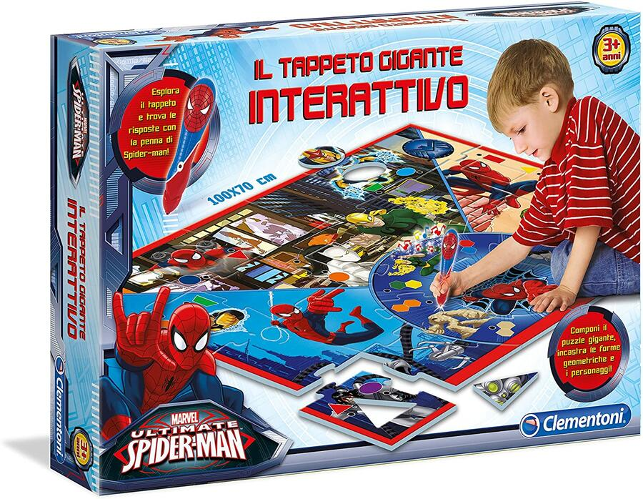 SPIDERMAN TAPPETO GIGANTE CLEMENTONI