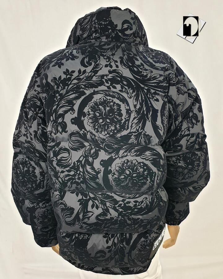 Versace Jeans Couture Piumino Nylon Print Flock Baroque