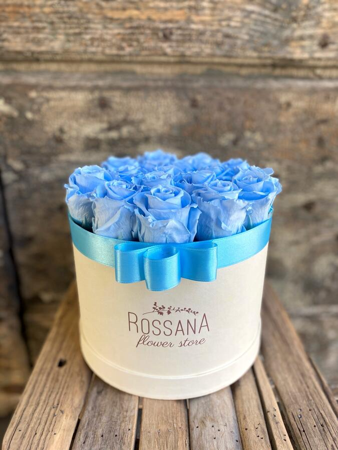 FLOWER BOX T18 Rossana Collection AZZURRO