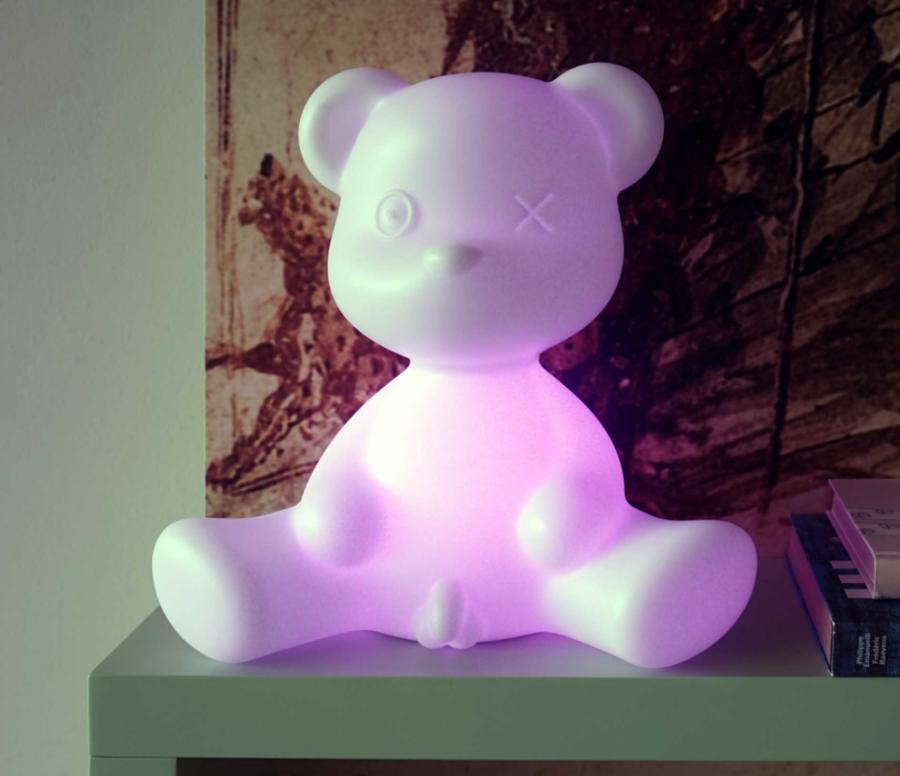 Lampada da Tavolo e da Terra Teddy Boy LED di Qeeboo in Polietilene