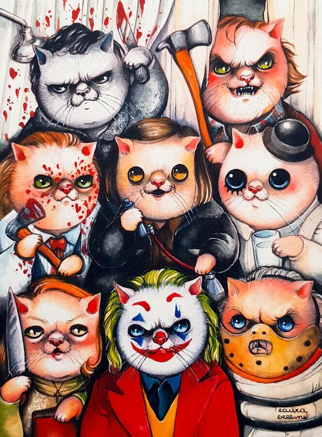 Stampa gatti cattivi del cinema