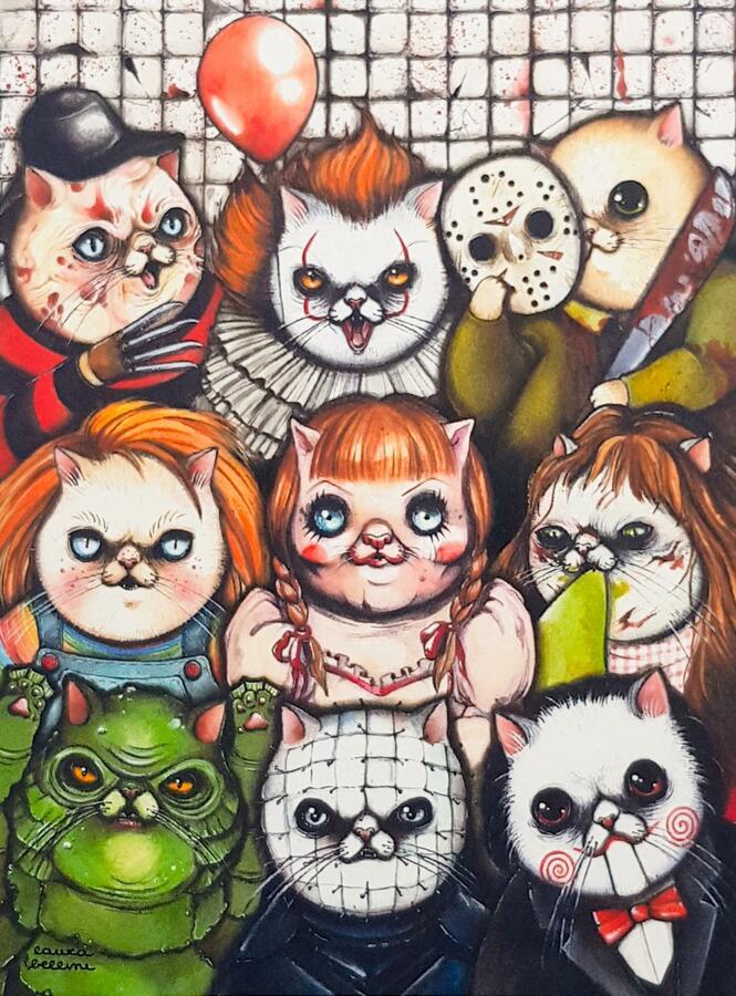 Stampa gatti horror